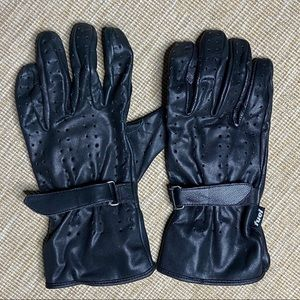 FUEL Leather Motorcycle Gloves Black XL XXL New